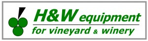Logo for H & W Equipment for Vineyard and Winery