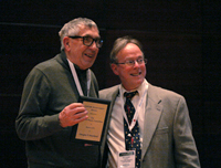 Douglas Moorhead of Presque Isle Cellars receiving the EWE Lifetime Achievement Award